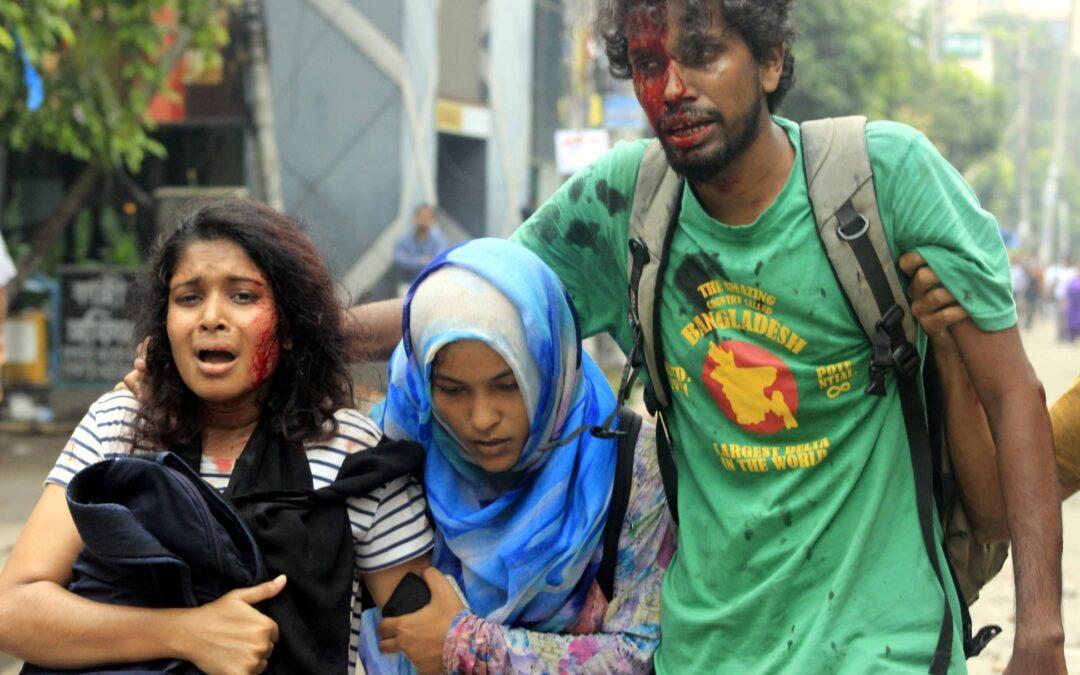 Bangladesh Dhaka Protests Government Attacks Unarmed Protestors