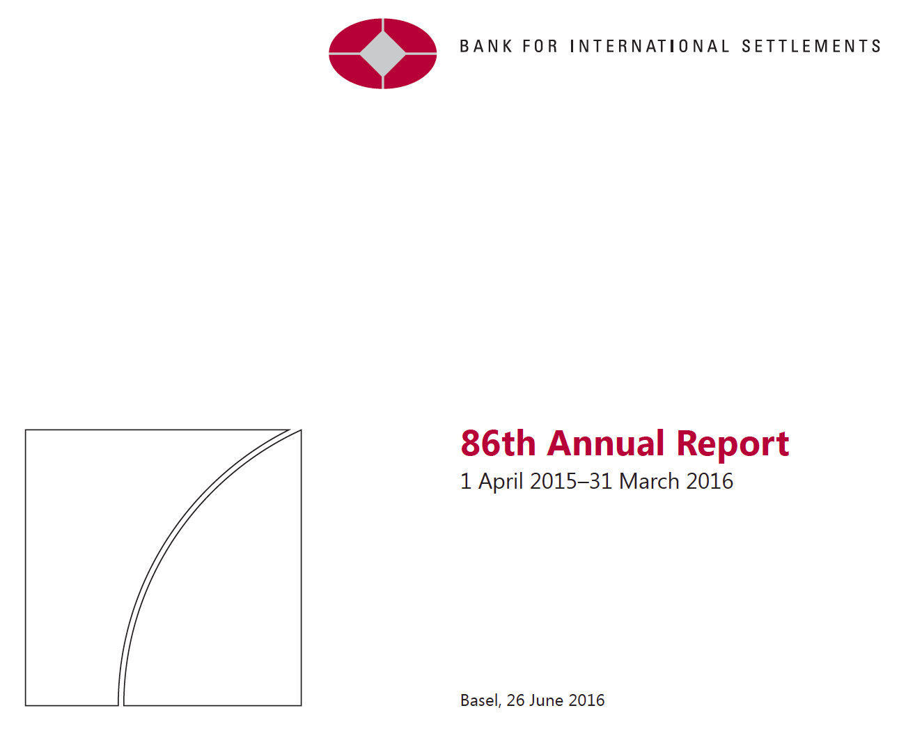 BIS 86th Annual Report Cover