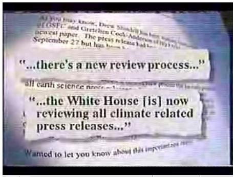 George Bush Climate Disinformation