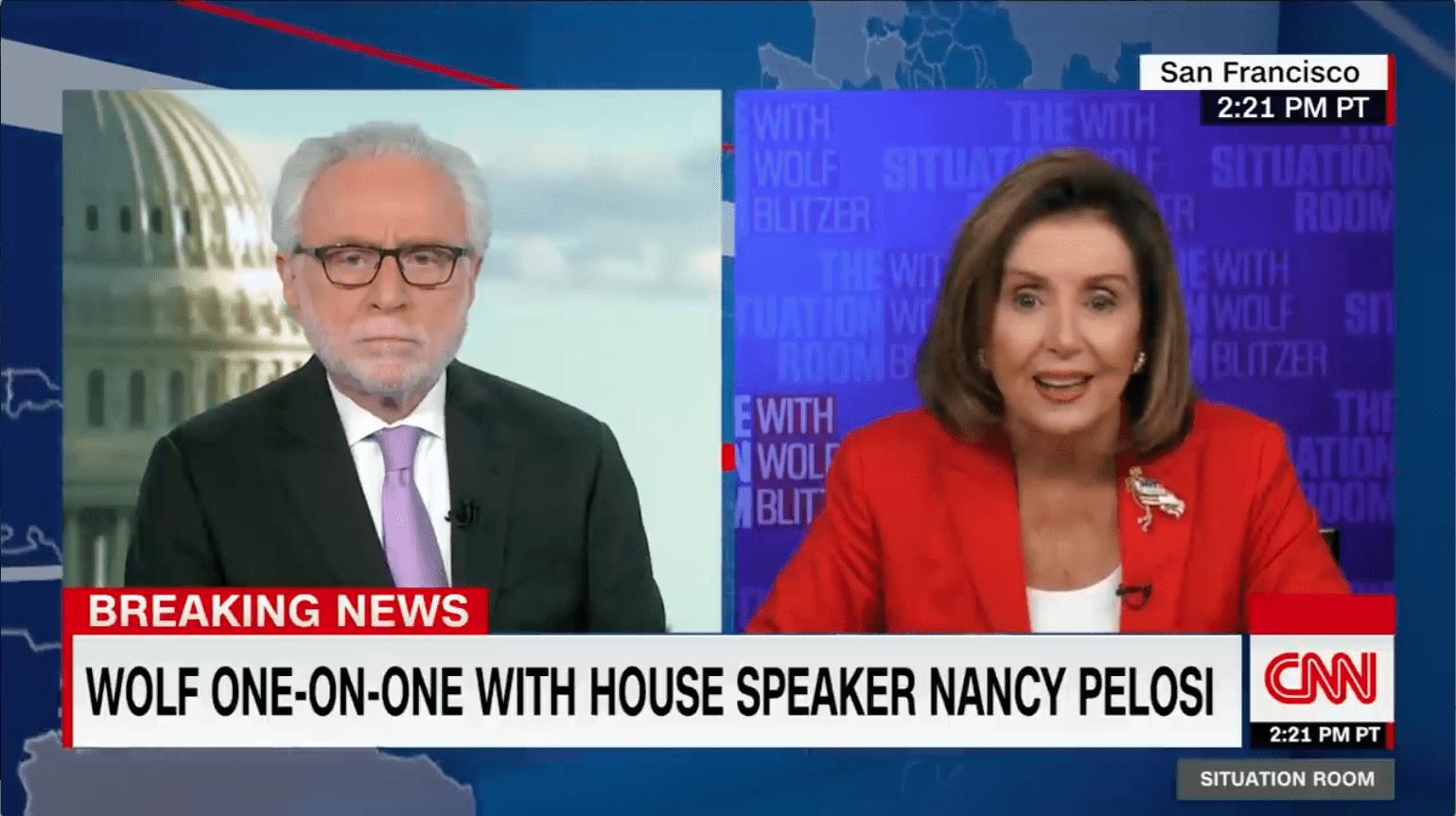 The Wolf Pelosi Stimulus Bill Argument
