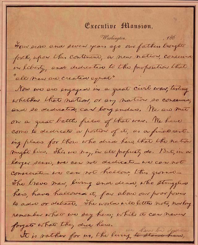 Gettysburg Address - Abraham Lincoln