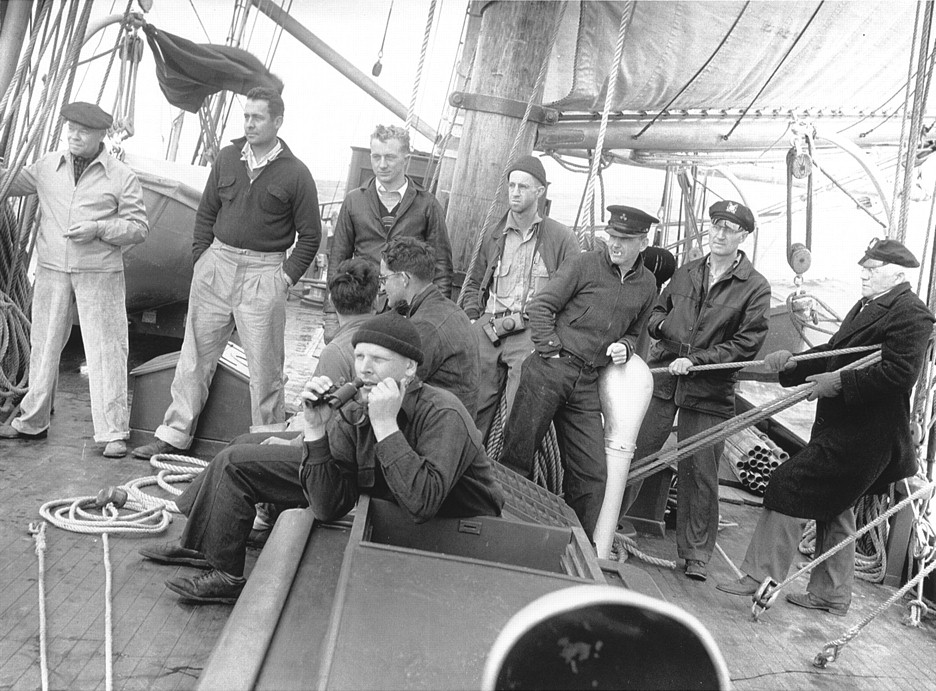 Roger Revelle on Deck of Ship