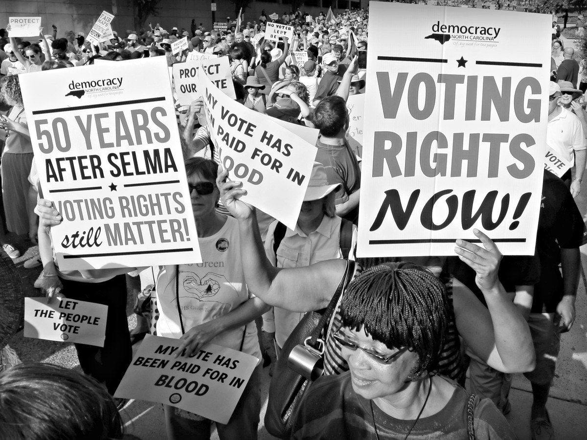 Voting rights march in North Carolina.